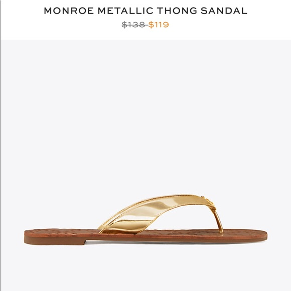 c52d528c8ec6 Tory Burch Monroe Metallic Thong Sandal